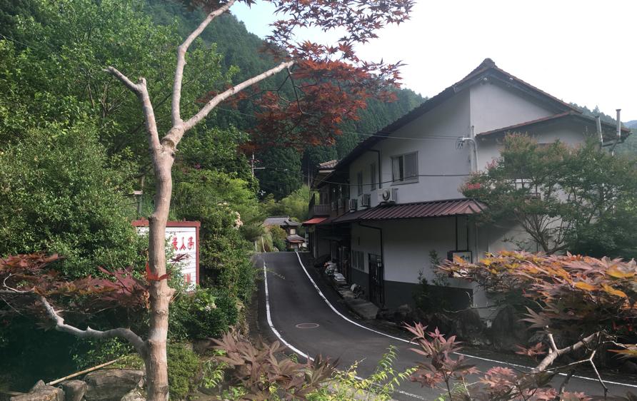 龍神村の風景、美人亭の前